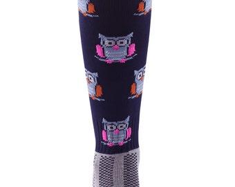 Samson® Hooters Owls Funky Socks Sport Knee High Sport Football Rugby Soccer