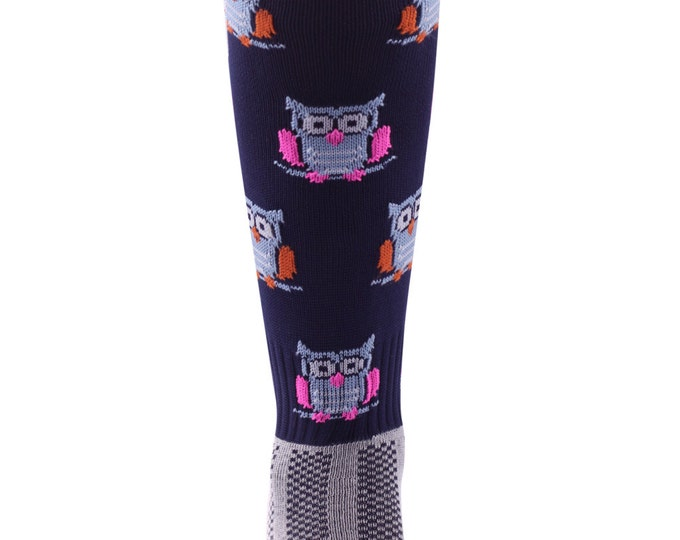 Samson® Hooters Owls Funky Socks Sport Knee High Sport Football Rugby Soccer