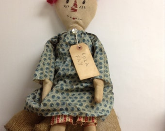 Primitive Annie Doll Vintage Annie Doll Shelf Sitter Doll Farmhouse Decor Bookcase Art