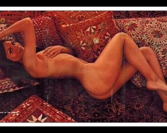 "Mature Playboy July 1971 : Playmate Centerfold Heather Van Every Gatefold 3 Page Spread Photo Wall Art Decor 11"" x 23"""