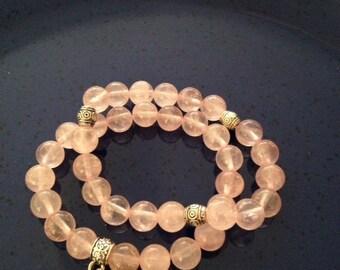 Healing Rose Quartz bracelet
