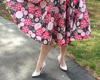Floral Circle High-waist Skirt