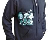 Peanuts Zombie zip up hoodie, Charlie Brown, Zip up sweatshirt for men, Snoopy Sweatshirt, Black hoodie, Hooded sweatshirt with zipper