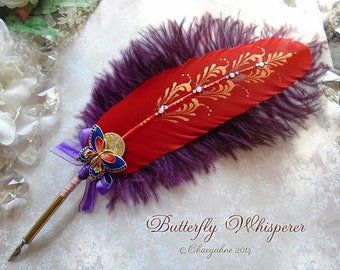 BUTTERFLY WHISPERER Totem Feather Quill Pen & Writing Set