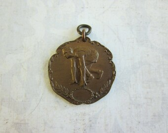 SALE Vintage Copper Toned Running / Track Medal