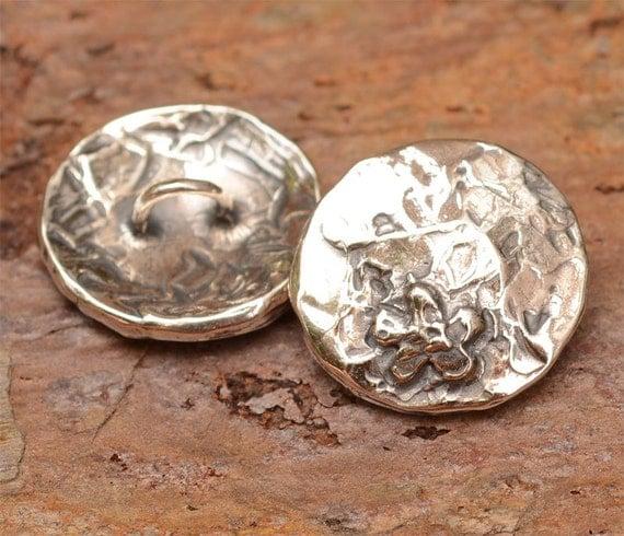 Artisan Sterling Silver Flower Button for Wrap Style Bracelets, 286