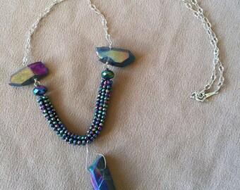 Hematite & Quartz Necklace