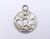 Diz Plying Pendant Silver Half Dollar Coin Fiber Tool Handspun Spinning Yarn Roving