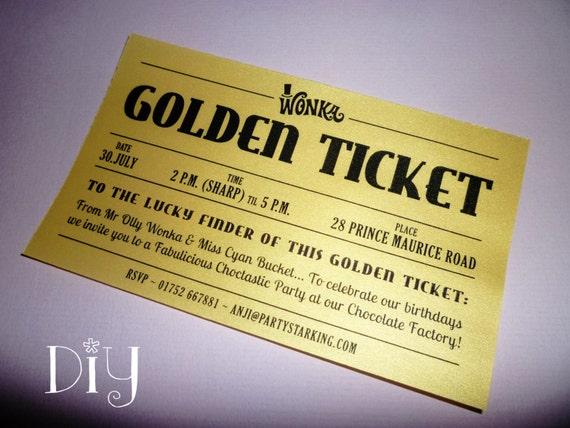 Golden ticket invitations printable willy wonka invitations golden ticket invitations printable willy wonka invitations willy wonka birthday party charlie and the chocolate factory diy editable pdf pronofoot35fo Choice Image