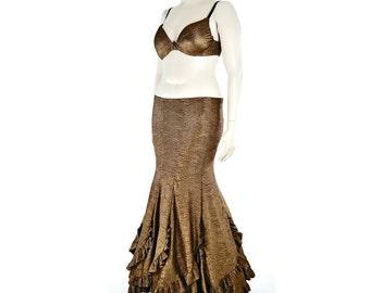 Sirena Skirt Bronze Mermaid Skirt