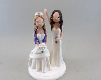 Nurse & Singer Personalized Same Sex Wedding Cake Topper