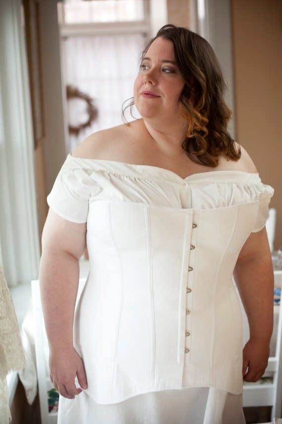 Edwardian Corset In Plus Sizes For Living History By