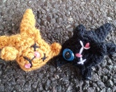 Dead Cat - silly macabre crochet amigurumi road kill toy decoration gag gift Halloween