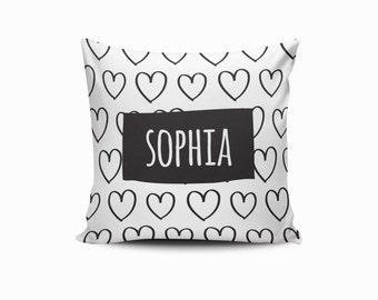 Custom Heart Pillow Cover, Nursery Heart Pillow, Throw Pillow Cover, Heart Throw Pillow, Heart Nursery Pillow, Heartbreaker, Pick Your Color