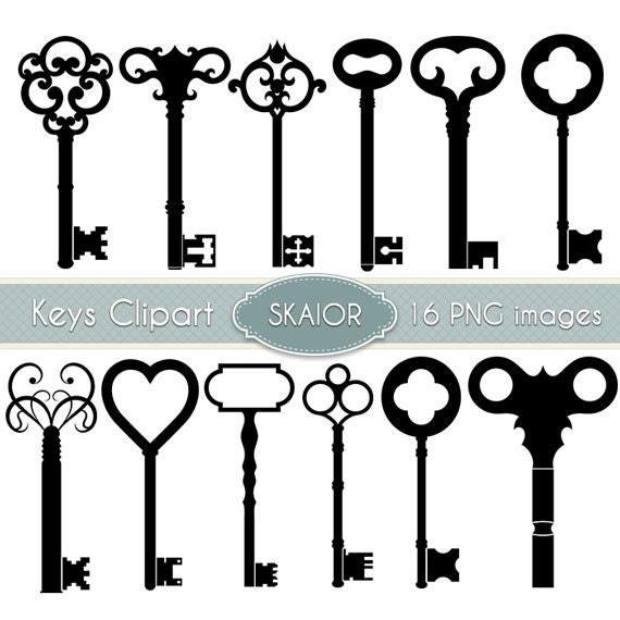 Victorian keyhole silhouette the image for Antique key art