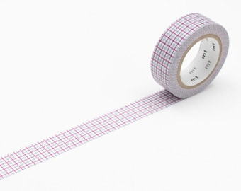 Grid Purple & Gray, Japanese mt Washi Paper Masking Tape, Adhesive Tape, Collage, Wrapping, Scrapbook, Card Decoration, Journal, MT01D271