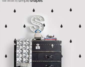 Vinyl Wall Sticker Decal - Rain drops