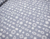 Gems Truly Outrageous (grey) - Cotton and Steel Fabric