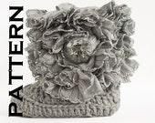 Ruffle Baby Boot Crochet Pattern - PDF