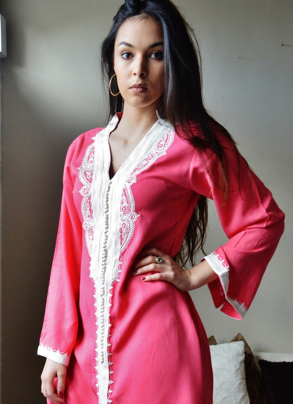 Pink Marrakech Dress - perfect for birthday gifts, resort wear, party,casual dress, resortwear, holiday, eid, Ramadan, Moroccan dress
