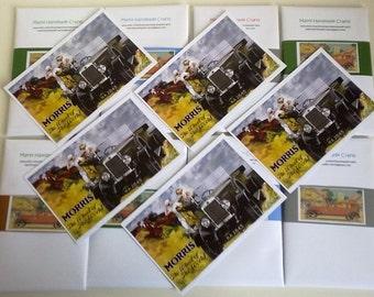 Morris Car Vintage Illustration Postcards - Set of 5