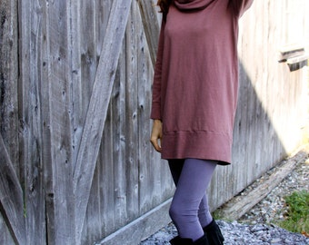Hooded Cowl Tunic- Organic Hemp Jersey