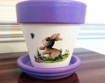 Easter Bunny Flower Pot, Rabbit Planter