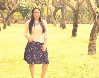 Midi skirt,Skirt with pockets,Romantic skirt,Midi skirt for women,Casual midi skirt,Stretchy skirt,Fall midi skirt,Blue skirt