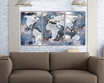 Wanderlust World Map CanvasWanderlust CanvasCanvas World