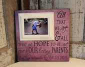 Wedding Gifts for Parents Thank You Gift Personalized Picture Frame Parents of the Bride and Groom