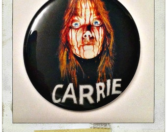 "Carrie, 1976 - Large 2 1/4"" Pin Back Button or Pocket Mirror"
