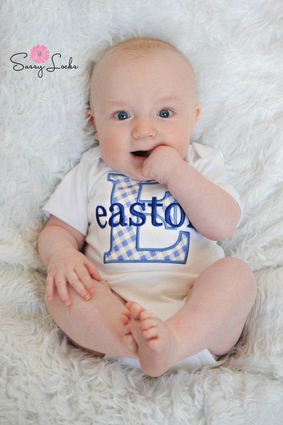 Baby Boy Clothes Monogrammed Baby Clothes Personalized Baby