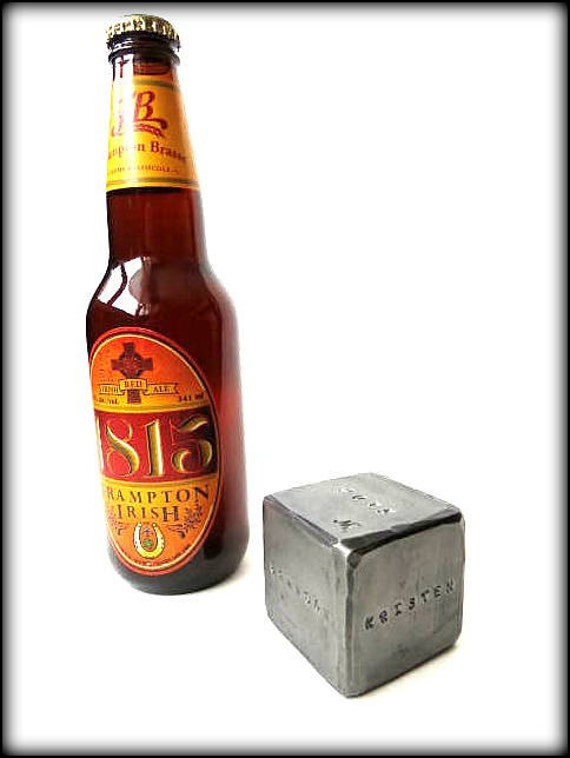 "2"" PERSONALIZED DIE Hand Forged and Personalized by Blacksmith Naz - Custom Die   Personalized Gift - Gift for Groomsmen - One of a Kind"