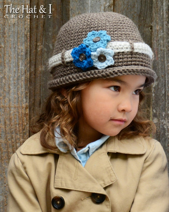 CROCHET PATTERN - His & Hers - crochet hat pattern for boys and girls, crochet beanie pattern (Infant - Adult sizes) - Instant PDF Download