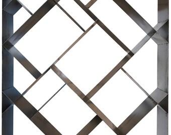 Diagonal Modern Metal Bookcase