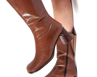 Italian Leather MID CALF Boots sz 7