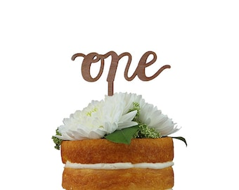 Script Number Cake Topper