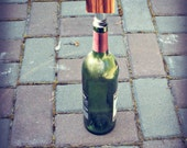 Personalized Mom Zebra Wood Bottle Stopper  - Upcycled Wine Stopper - READY TO SHIP