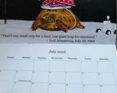 Calendar, Neil the Tortoise 2016 Calendar, 2016 Calendar, Tortoise Calendar, Turtle Calendar
