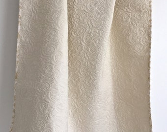 Baby Quilt Heirloom in Vintage Ivory Cotton