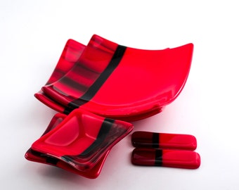 Buy Red and Black Dinnerware from Bed Bath & Beyond