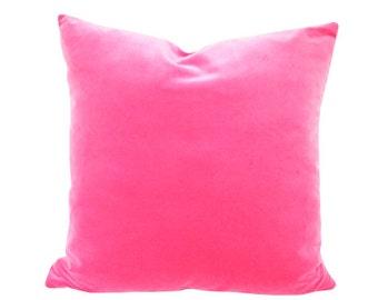 Schumacher Fuchsia Velvet Designer Pillow Cover