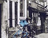 Street Art, Bicycle Photography Amsterdam Print, Black and White Photography, Urban, Bike Art, Art Print, Bicycle Wall Art - Bourbon Street
