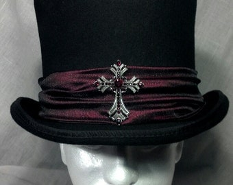 Vampire Style Gothic Flared Top Hat