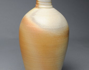 Clay Vase Bottle Wood Fired A91