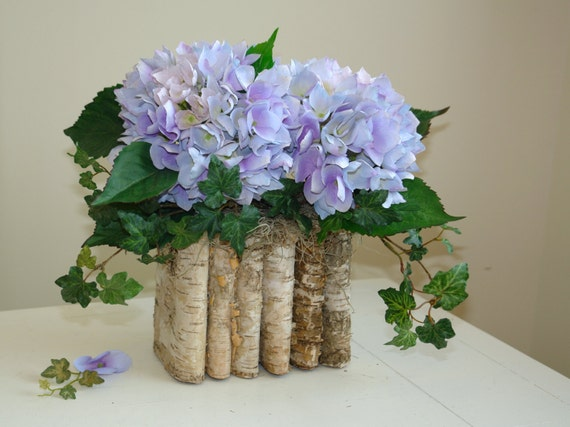 Mother s day centerpiece bouquet birch bark wood by aniamelisa