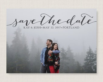 Custom save the date. Stylish and modern wedding announcement, available as a postcard. Completely customizable and printable. #37