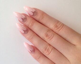 Heart tip stiletto nails, Nail designs, Nail art, Nails, Stiletto nails, Acrylic nails, Pointy nails, Fake nails, False nails