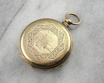 Antique 1890's Pocket Watch From Liverpool, England R129X7