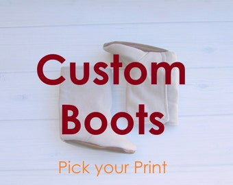 Custom Boots, Baby Boots, Toddler Boots, Baby Boy, Baby Girl, Gender Neutral, Shoes, Design your Own, Faux Leather, Custom Made